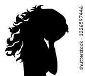 vector silhouette of face of... | Shutterstock .eps vector #1226597446