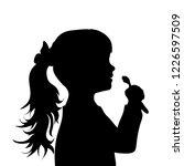 vector silhouette of face of... | Shutterstock .eps vector #1226597509