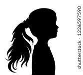 vector silhouette of face of... | Shutterstock .eps vector #1226597590
