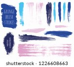 paint lines grunge collection....   Shutterstock .eps vector #1226608663