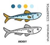 coloring book for children ... | Shutterstock .eps vector #1226609926