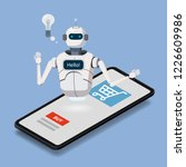isometric science chat bot ... | Shutterstock .eps vector #1226609986