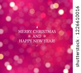 pink blurred xmas background... | Shutterstock .eps vector #1226610016