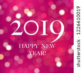 new year blurred card with... | Shutterstock .eps vector #1226610019