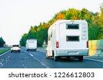 camper rv in the road in... | Shutterstock . vector #1226612803
