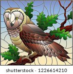 illustration in stained glass... | Shutterstock .eps vector #1226614210