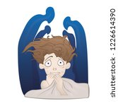 social anxiety disorder  social ... | Shutterstock .eps vector #1226614390