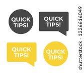 quick tips helpful tricks...   Shutterstock .eps vector #1226616049