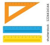 school instruments  rulers... | Shutterstock .eps vector #1226616166