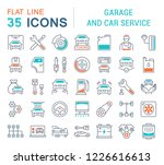set of line icons  sign and...   Shutterstock . vector #1226616613