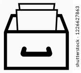 outline drawer vector icon | Shutterstock .eps vector #1226627863