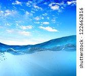 design template with underwater ... | Shutterstock . vector #122662816