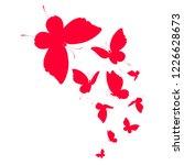 beautiful red butterflies ... | Shutterstock .eps vector #1226628673