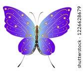 beautiful pink butterflies... | Shutterstock .eps vector #1226628679