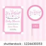 baby shower  baby girl ... | Shutterstock .eps vector #1226630353