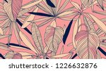 foliage seamless pattern  light ... | Shutterstock .eps vector #1226632876