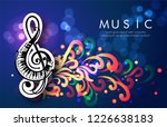 music abstract design with... | Shutterstock .eps vector #1226638183