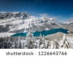 peyto lake with reflection at... | Shutterstock . vector #1226643766