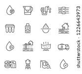 water purification  icon set.... | Shutterstock .eps vector #1226643973