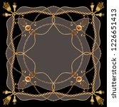belt tassel and chain patterned ... | Shutterstock . vector #1226651413