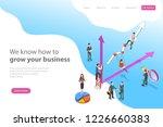 isometric flat vector landing... | Shutterstock .eps vector #1226660383