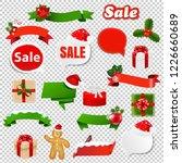 christmas set transparent...   Shutterstock . vector #1226660689