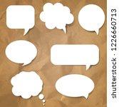 speech bubble set  | Shutterstock . vector #1226660713