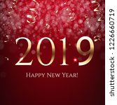 red new year postcard  | Shutterstock . vector #1226660719