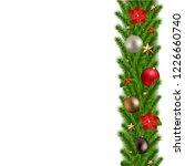 green christmas garland  | Shutterstock . vector #1226660740