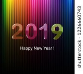 happy new year greeting card | Shutterstock . vector #1226660743
