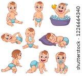 babies set vector illustration... | Shutterstock .eps vector #1226664340