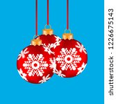 christmas balls hanging on a... | Shutterstock .eps vector #1226675143