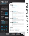 professional cv resume template ... | Shutterstock .eps vector #1226675269