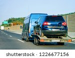 crashed cars carrier truck in... | Shutterstock . vector #1226677156