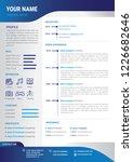 professional cv   resume... | Shutterstock .eps vector #1226682646