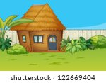 illustration of a house in a... | Shutterstock .eps vector #122669404