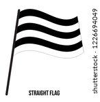 straight flag waving vector... | Shutterstock .eps vector #1226694049