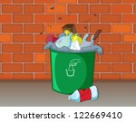 Illustration Of A Dustbin In...