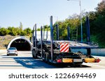 empty carrier truck on the... | Shutterstock . vector #1226694469
