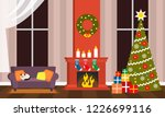 happy holidays greeting card or ... | Shutterstock .eps vector #1226699116