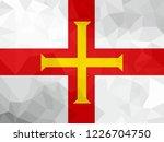 guernsey polygonal flag. mosaic ... | Shutterstock . vector #1226704750