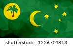 cocos island polygonal flag.... | Shutterstock . vector #1226704813