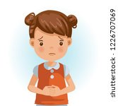 sad little girl. the face... | Shutterstock .eps vector #1226707069
