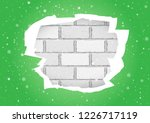 christmas snowfall and torn... | Shutterstock .eps vector #1226717119