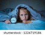 cute sleepless little girl in... | Shutterstock . vector #1226719186