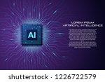 artificial intelligence... | Shutterstock .eps vector #1226722579