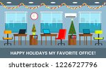 the interior of a large office... | Shutterstock .eps vector #1226727796