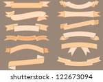 vector ribbons collection | Shutterstock .eps vector #122673094