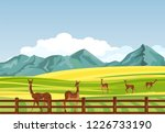 lama south american animals in... | Shutterstock .eps vector #1226733190