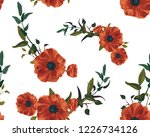 floral seamless pattern on a... | Shutterstock .eps vector #1226734126